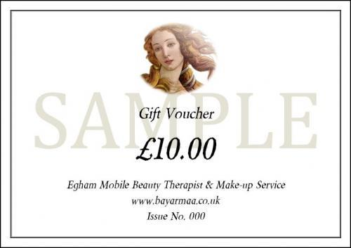 Egham Mobile Beauty Therapist U0026 Make Up Service. Mobile: 07841 031 849.  Office: 01784 433 881. Gift Vouchers  How To Make Vouchers